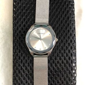 Tracy Ellen Silver Mesh Watch